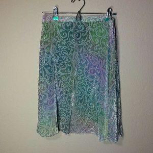 Vintage 80s Mermaid Velvety Skirt